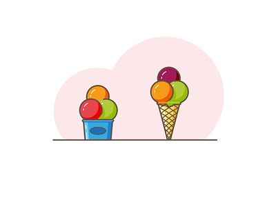 Ice cream time ! paper cup ice david beaud ice creams