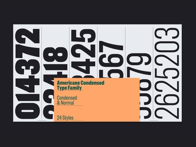 Americane Condensed – Numbers typographic poster editorial graphic font sans-serif sanserif hvdfonts hvd typo woodcut typography fontfamily fonts typefamily typeface grotesque sans wood woodtype