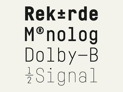 Fabrikat Mono industrialdesign industrial sanserif monospaced mono branding logo graphic sans typedesign geometric typography fonts font typeface hvd