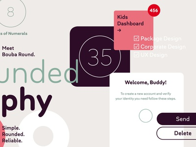 Bouba Round arrows digital ux ui branding brand geometric circle rounded corners soft edges pro cyrillic greek soft friendly