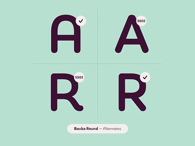 Bouba Round Alternates alternates arrows digital ux ui branding brand circle rounded corners soft edges pro cyrillic greek soft friendly