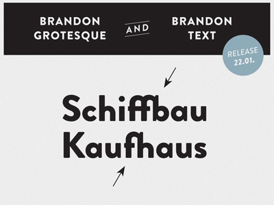 HVD Fonts Brandon Grotesque & Brandon Text - Ligatures by