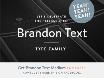 FOR FREE! Brandon Text Medium font typeface hvd geometric brandon