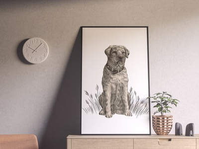Labrador sketch pet friend labrador dog animal hand drawn art vector sketch illustration