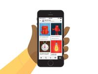 Pinterest Illustrations / Phone Swipe