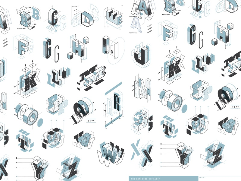 Exploded Alphabet / Edition 01 Print