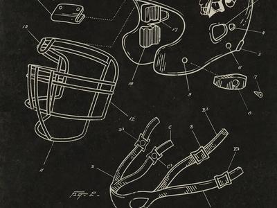 Helmet Patent Drawing