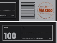 MAX100 / Final slipcase labels