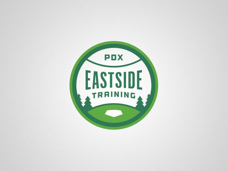 PDX Eastside training sports baseball identity logo