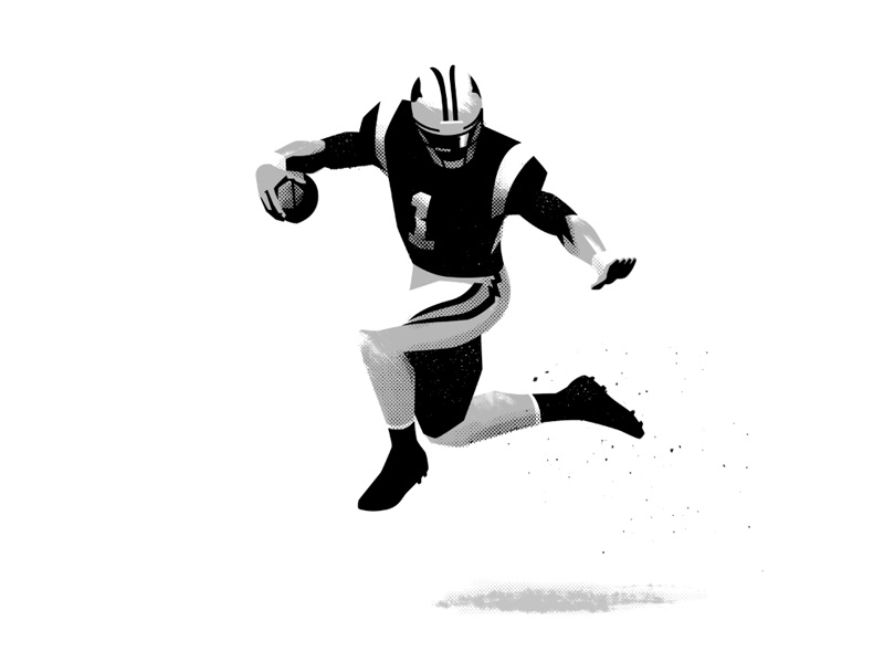 CAM illustration sports cam newton football nfl panthers