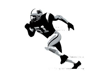 Sam illustration sports cam newton football nfl panthers