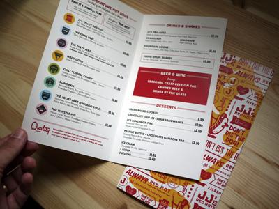 Jj s menu