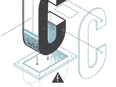 The exploded alphabet c