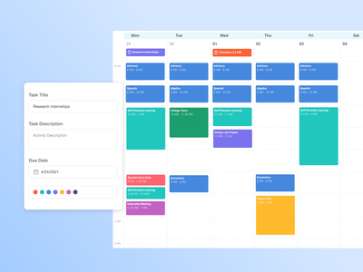 📅 Scheduling app - Formation Learning ui  ux edtech education calendar app calendar ui calendar schedule app scheduling scheduler schedule clean ui web app web ui