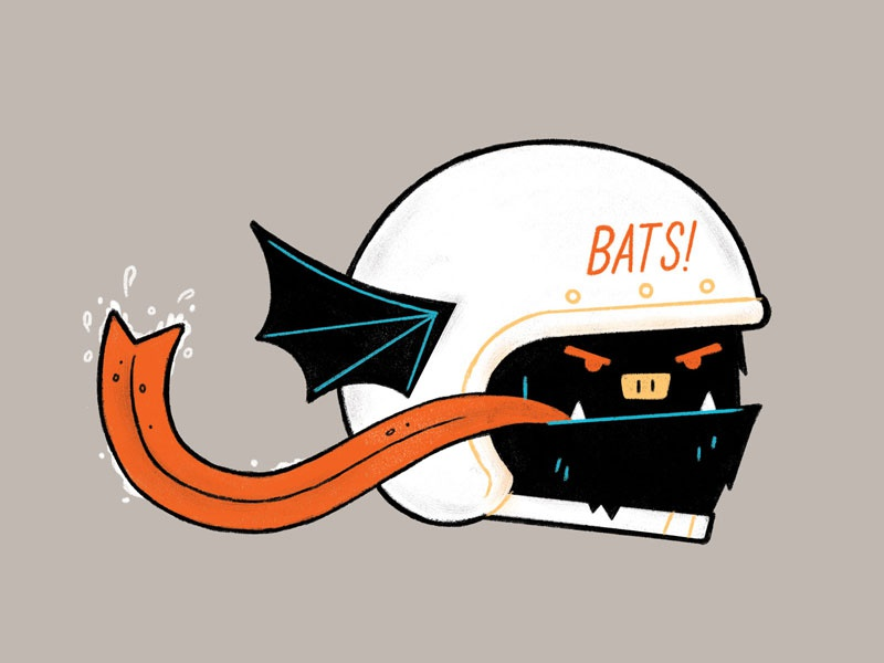 BATS! fink bat goons illustration