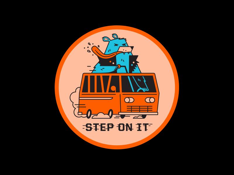 Bad Badge patch badge van bear fink goons illustration
