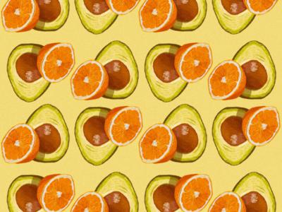 Orange & avocado pattern