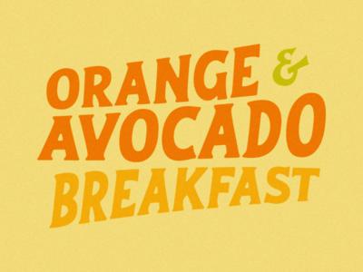 Orange & avocado 🍊🥑