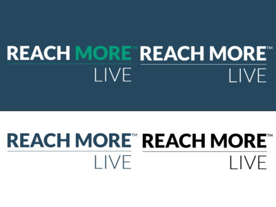 Reach More Live Logo Set