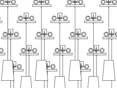 Motor Installation Proposal pattern layout process installation motors adobe illustrator