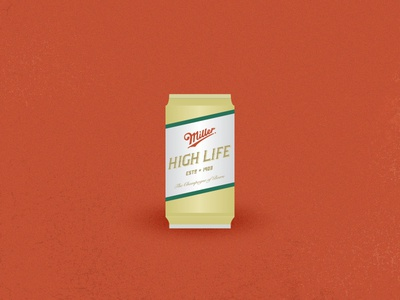 The High Life vector illustration beer miller high life alcohol can