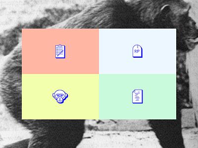 ∞ S E A R C H ∞ science monkey research icon