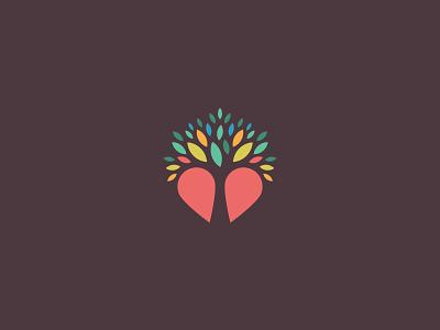 Off To Satan's Lair leaf leaves logo heart tree
