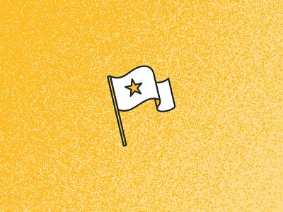 Waving The Brand Old Flag icon branding illustration flag