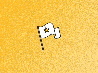 Waving The Brand Old Flag icon branding illustration flag