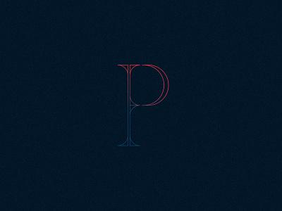 P logo type letter p