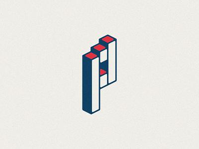KO'd P logo type letter p