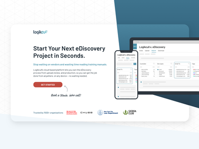 eDiscovery Software Schedule Intro Call Landing Page legal ediscovery legal software intro call landing page marketing conversion design cro saas software web design ux ui