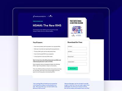 Revenue Management Software   Buyer's Guide Landing Page ebook guide gated content gated asset gated landing page revenue management marketing conversion design cro saas software web design ux ui