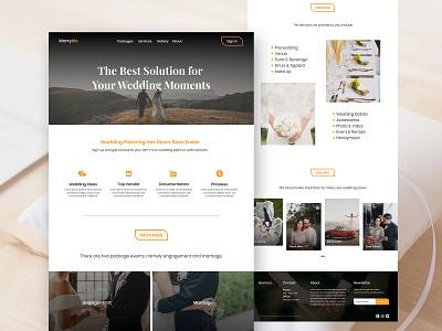 MarryMe | Website for Married Plan design website concept marriage married marry ui landing page website design website