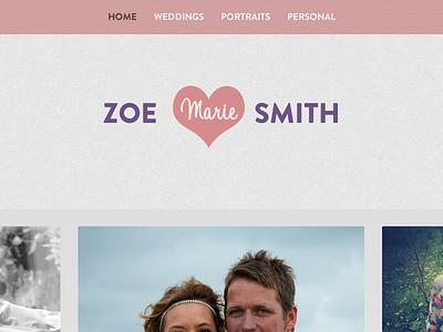 Zoe website photography photographer gallery brandon grotesque adelle