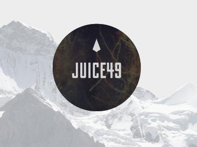 Juice49 logo mountains moss roots diamond circle geometric photographic