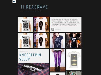 ThreadRave miso inconsolata grid fashion magazine