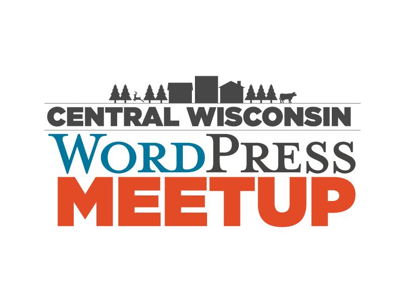 Central Wisconsin WordPress Meetup wordpress logo identity illustration