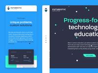 Futuristic Education Landing Page motion interactive animation landing page website ui ux branding design