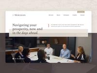 6 Meridian Hero Video clean home logo hero video website web branding design