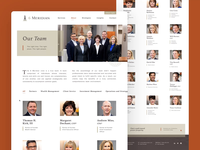 6 Meridian Team Page team motion interaction web website ux ui branding design
