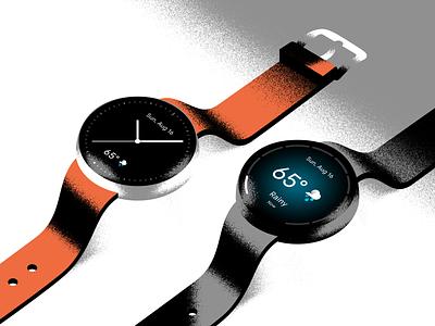Watch and Wait mockup weather watch smartwatch icon ux ui design