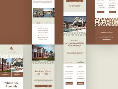 The Heritage Responsive Website branding website mobile ux ui design responsive