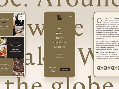 Alzavino Responsive Website typography restaurant tavern wine branding mobile website ui design