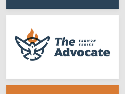 The Advocate Series Cover wings religion fire series sermon branding bird dove