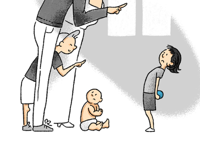 Poor Penny baby family girl illustration childrens book