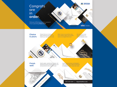 Congrats are in order. grad flyer print design graduation announcements