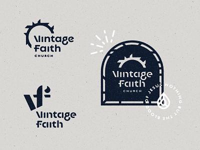 More V + F vf crown of thorns church branding logo face of christ church jesus