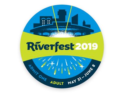 Riverfest Adult Button
