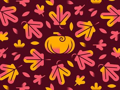 Autumnal Bliss autumn leaves fall autumn pumpkin vector design illustration